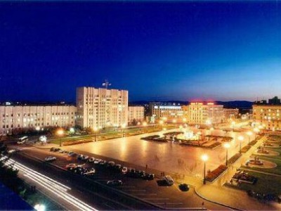 Evening lights of Khabarovsk (22:00-01:00)