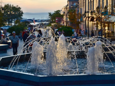 Walking tour to downtown part of Vladivostok