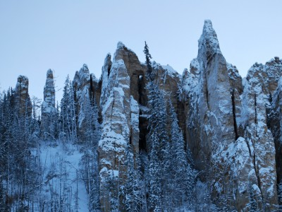Lena Pillars in Winter