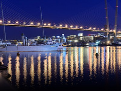 Night lights of Vladivostok